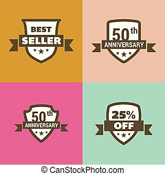 ontwerp, vector, set, verkoop, kentekens
