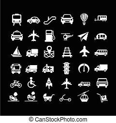 ontwerp, vervoeren, illustratie, pictogram