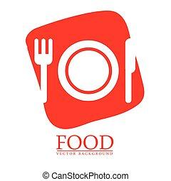 ontwerp, voedingsmiddelen, menu