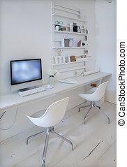 ontwerper, plek, werkende
