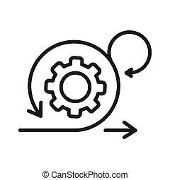 ontwikkeling, behendig, ontwerp, illustratie