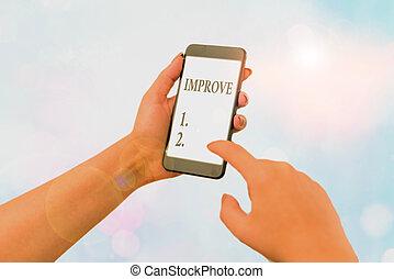 ontwikkeling, change., schrijvende , tekst, beter, groeien, handschrift, maken, capacities, concept, betekenis, verhogen, worden, improve.