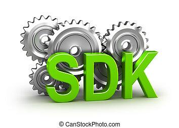 ontwikkeling, conce, -, uitrusting, software, 3d