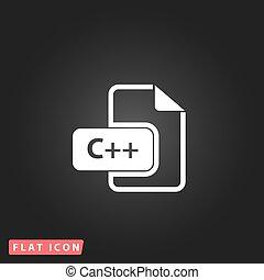 ontwikkeling, plat,  c, Formaat, bestand, pictogram