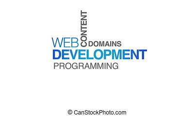 ontwikkeling, web, animatie, tekst