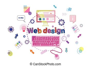 ontwikkeling, web, concept, proces, programmering, creatief,...