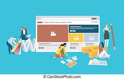 ontwikkeling, web ontwerp