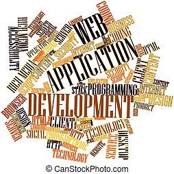 ontwikkeling, web, toepassing