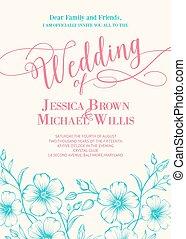 ontzagwekkend, trouwfeest, invitation.
