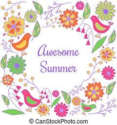 ontzagwekkend, zomer