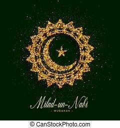 onu, cartão, nabi, desenho, milad, eid, barawafast