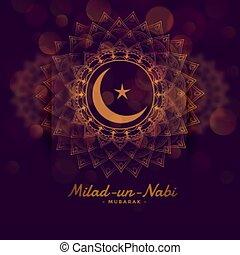 onu, festival, nabi, desenho, milad, fundo, islamic