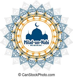 onu, festival, nabi, milad, islamic, saudação, fundo