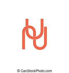 onu, linha, geomã©´ricas, letras, simples, vetorial, ...