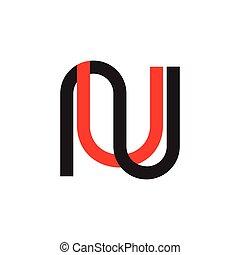 onu, logotipo, vetorial, simples, geomã©´ricas, letras, ...