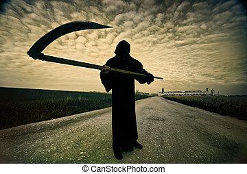 onverbiddelijke reaper, op de straat