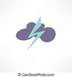 onweer, pictogram
