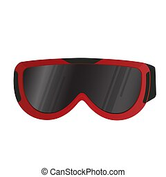 oog, equipment., protection., realistisch, goggles., sportende, ski