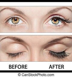 oog, eyelashes, vals