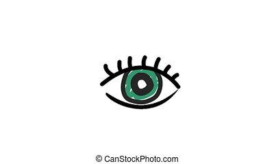oog, illustratie