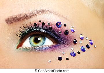 oog, mooi, makeup