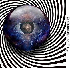 oog, spiraalvormige melkweg
