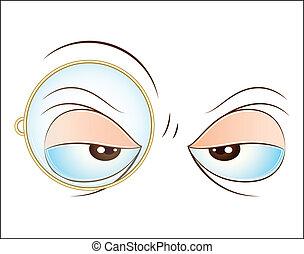 oog, vector, uitdrukking
