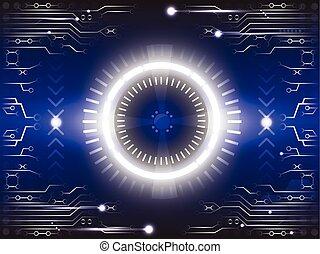 oogappel, van, toekomst, abstract, achtergrond