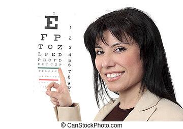 oogarts, met, oog diagram