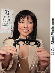 oogarts, zicht, onderzoek