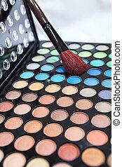 oogschaduw, binnen, makeup borstel, multi-colored, professioneel