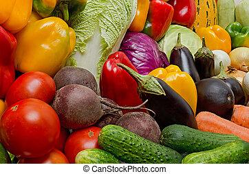 oogst, van, groentes