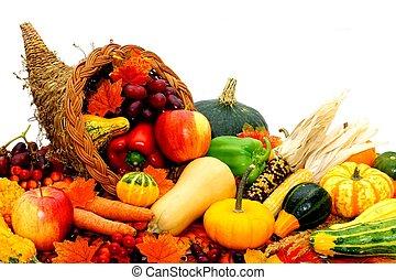 oogsten, cornucopia