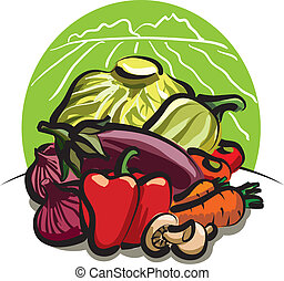 oogsten, groente