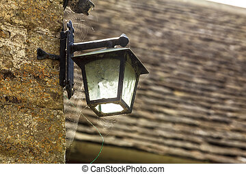 old lamp on the wall