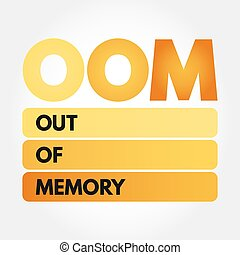 oom, -, 記憶, 頭字語, から