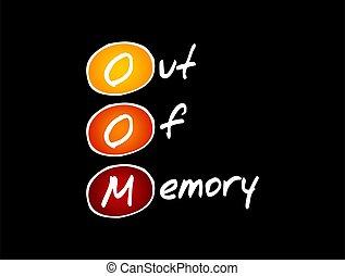oom, 頭字語, 概念, から, -, 記憶, 技術