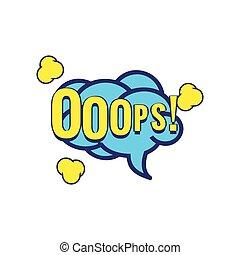 Ooops Comic Speech Bubble