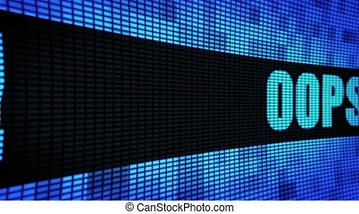 OOPS Side Text Scrolling LED Wall Pannel Display Sign Board