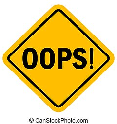 Oops sign vector graphics design - Oops sign vector ...