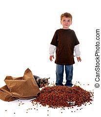 Oops! - Expressive preschool boy who realises he\\\'s caught...