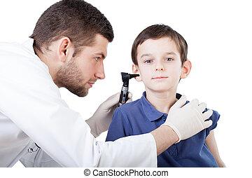 oor onderzoek, jongen
