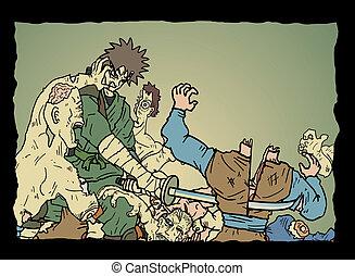 oorlog, zombies