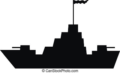 oorlogsschip, pictogram