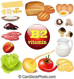 oorsprong, plant, b, twee, vitamine, producten, dier