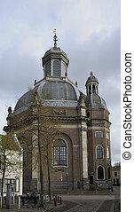 oostkerk, middelburg - view of northern side of baroque ...