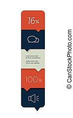 opção, workflow, infographic., banner., passo, vetorial, desenho, minimalistic