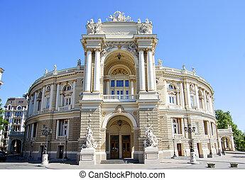 opéra, bâtiment, odessa, théâtre, ukraine