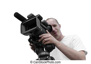 opérateur, appareil photo, vidéo