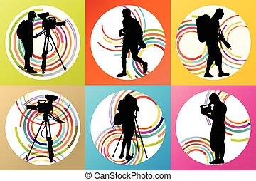 opérateur, camcorder vidéo, cameramans